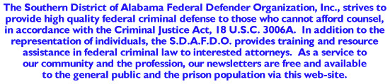 S.D.A.F.D.O. - Southern District of Alabama Federal Defender Organization